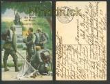 Die Wacht am Rhein farb-AK Lieb Vaterland .... (d4471)