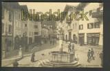 Berchtesgaden sw-AK Strasse mit Brunnen ungebraucht (d4501)