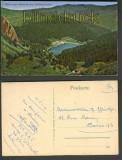 Blick vom Hoheck auf Schiessrotried farb-AK 1919 (a0830)