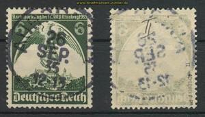 dt. Reich Mi # 586 x II gestempelt geprüft Schlegel BPP (24719)