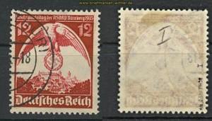 dt. Reich Mi # 587 x I gestempelt geprüft Schlegel BPP (24723)