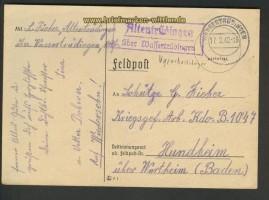 dt. Reich Feldpostkarte Landpoststempel Altentrüdingen (24793)