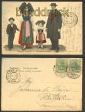 Strassburg farb-AK Elsässer Trachten 1904 (d4658)