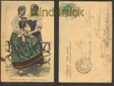 Strassburg farb-AK Elsässer Trachten 1904 (d4661)