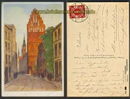 Danzig farb-AK Petrikirche  1926 (d4666)