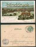 Achern in Baden farb-AK Totalansicht 1901 Bahnpost (d4673)