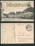 Grabow (Meckl.) sw-AK Marktplatz und Rathaus 1918 (d4728)
