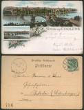 Coblenz Koblenz farb-Litho-AK Eisenbahnbrücke 1896 (d4729)