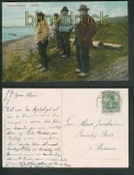 Fra Nordslesvig farb-AK Fiskere 1910 (d4750)