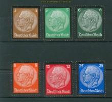 dt. Reich Mi # 548/53 ** Hindenburg-Trauersatz (25055)