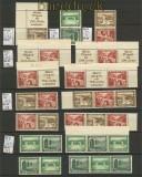 dt. Reich Zusammendrucke kplt. aus MH 43 postfrisch (22384)