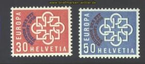 Schweiz Mi # 681/82 postfrisch 100,00 Euro (17047)