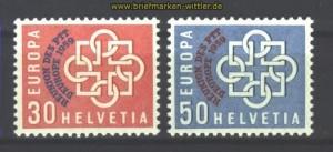 Schweiz Mi # 681/82 postfrisch 100,00 Euro (17048)