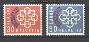 Schweiz Mi # 681/82 postfrisch 100,00 Euro (17049)