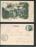 Gruss von der Wartburg sw-AK der erste Hof 1901 (d4826)