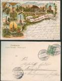 Gruß von den Spicherer Höhen farb-Litho-AK 9 Ansichten 1903 (d4833)