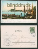 Swinemünde farb-AK Leuchtturm + Osternothhafen 1899 (d4835)
