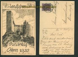 Der Landfahrer e.V. sw-AK Bundestag Ostern 1920  (d4857)