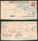 dt. Reich Mi # 41 EF nach Berlin unzustellbar div. Vermerke (25392)
