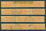 DDR Dienstmarken B Mi # 17 O gestempelt vier 3er-Streifen (25688)