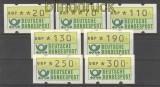 Bund ATM 1981 kleiner Satz komplett postfrisch (21198)
