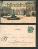 Bremen farb-AK Marktplatz Gruss aus 1899 (d4872)