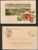 Bremen farb-Präge-AK Die Weser mit Wappen 1916 (d4875)