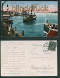 Flensburg farb-AK am Hafen 1922 (d4943)