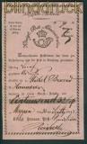 MEPPEN Aufgabeschein rosa 23.9.1843 Wertbrief (25897)