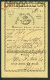 MEPPEN Aufgabeschein gelb 11.12.1861 Wertbrief (25918)