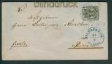 Hannover Mi # 9 EF Hildesheim 1858 nach Peine (25921)