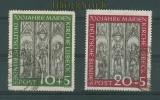 Bund Mi #  139/40 gestempelt Marienkirche Lübeck (26007)