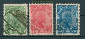Liechtenstein Mi # 1/3 gestempelt (26110)