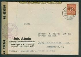 all. Besetz. Gemeinschaftsausgaben Zensurbrief 1946 (26152)