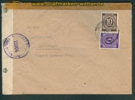 all. Besetz. Gemeinschaftsausgaben Zensurbrief Göttingen 1946 (26153)