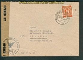 all. Besetz. Gemeinschaftsausgaben Zensurbrief 1947 (26155)