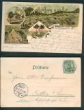 Deutscheinsiedel farb-Litho-AK 4 Ansichten 1903 (d5040)