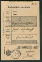 Birkenfeld Posteinlieferungsschein 15.5.1915 Brief Rückschein (26228)