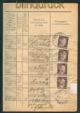 dt. Reich Mi # 787 verklebte Gebühr Holte Einlieferungsbuch (26240)