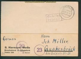 all. Besetzung Werlte Gebühr bezahlt 23.8.1945 (26261)