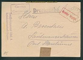 all. Besetzung Meppen Gebühr bezahlt 20.11.1945 (26263)