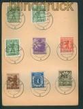 SBZ Mi # 1/7 A mit 1 III auf Satz-Karte vom Letzttag (26268)