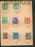 SBZ Mi # 1/7 A mit 1 XIX auf Satz-Karte vom Letzttag (26269)
