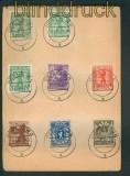 SBZ Mi # 1/7 A mit 1 AB XII auf Satz-Karte vom Letzttag (26270)