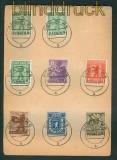 SBZ Mi # 1/7 A mit 1 AB XIII auf Satz-Karte vom Letzttag (26273)