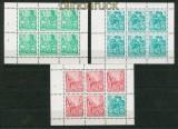 DDR Zusammendrucke Heftchenblätter Mi # 7 A, 8 A und 9 A  postfrisch Fünfjahresplan 1955 (26340)