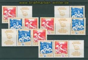 DDR Mi # 1761/62 Zusammendrucke WZd 263/68 postfrisch (26399)