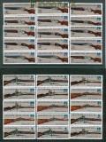 DDR Zusammendrucke  Mi # 2376/81 postfrisch SZd 168/179 Jagdwaffen (26439)
