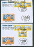 Bund ATM Mi # 3 Type 2 FDC Nagler N 104 (26560)