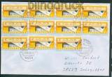 Bund ATM Mi # 5 MeF von 11 Marken 5 Pfg.  alle mit Nummern (26561)